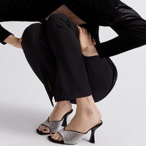 Zara Rhinestone Appliqué High Heeled Sandals